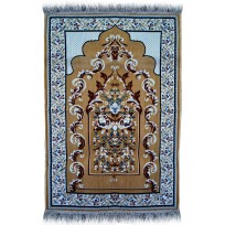 BEST Janamaz :  Plush Velvet Muslim  Prayer Rug From Turkey RS195