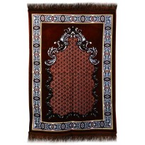 AYDIN Janamaz :  Plush Velvet Muslim  Prayer Rug From Turkey RS191