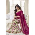 Fabulous Vinay Saree DO14 Cranberry