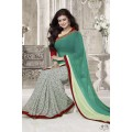 Fabulous Vinay Saree DO17 Light Pest - Off White