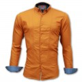 Mixed Cotton Casual Shirt  RS04S Burnt Orange