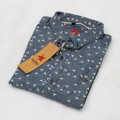 Printed Cotton Casual Shirt RS05S Blue