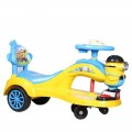 Baby's Auto Push Car Battery and Music System Yellow & Light Blue BPC01