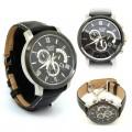 CASIO Beside Series Black Dial Leather Band Watch BEM 507BL 1AV