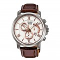 CASIO Elegant Leather Fashion Gents Watch BEM 507L 7AVDF