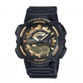 Analogue And Digital Casio Gold Dial Watch AEQ 110W 9AVDF
