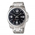 Casio Men's Black Dial Stainless Steel Band Watch MTP 1314D 1AVDF