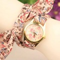 Cloth Flower Ladies Watch