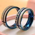 Crystal Mount Lovers' Couple Ring HCL247