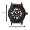 Q&Q DA34J515Y Analog Black Dial Men's Watch