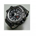 Q&Q DE11J501Y Analog Digital Black Dial Men's Watches
