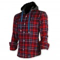 Devil Light Flannel Hooded Shirt DE726