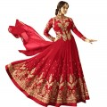 Ayesha Takia Embroidered Red Anarkali Suit WF087