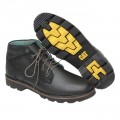 Black Leather Casual Boot FFS423