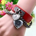 Heart Shaped Bracelet Wrist Watch