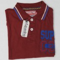 Super Dry Polo Shirt MH27P Maroon