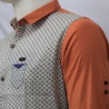 Stylish Printed Cotton Casual Shirt MH24S Copper
