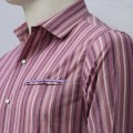 Stripe Printed Cotton Casual Shirt MH26S Rosewood