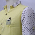 Stylish Printed Cotton Casual Shirt MH28S Lemon Chiffon