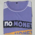 No Money No Honey Round Neck T-Shirt YG27 Medium Purple