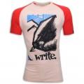 Write Round Neck T - Shirt MG37 Off White
