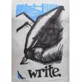 Write Round Neck T-Shirt Black MG39 Ash
