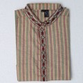 Exclusive Stripe Embroidery Eid Panjabi SB19E Multi