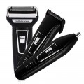 Kemei KM-6558 3 in 1 Reciprocating Three Blades Electric Shaver