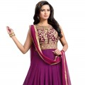 Mesmeric Purple Color Anarkali Suit WF043