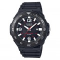 CASIO Men's Black Dial Silicone Band Wristwatch MRW-S310H-1BVDF