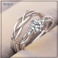 Valentine Special Clear Cubic Zirconia Promise Couple Rings SCR371