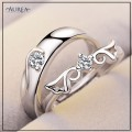 Valentine Special Clear Cubic Zirconia Promise Couple Rings SCR373