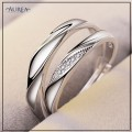 Valentine Special Clear Cubic Zirconia Promise Couple Rings SCR374