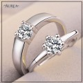 Valentine Special Clear Cubic Zirconia Promise Couple Rings SCR377