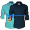 LAVELUX Premium Slim Solid Cotton Formal Shirts : Combo 41