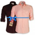 LAVELUX Premium Slim Solid Cotton Formal Shirts : Combo 42