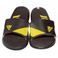 Stylish Adidas Slipper  Black With Yellow