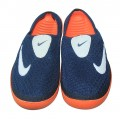 Stylish Nike Half Slipper EP2020 Navy Blue With Orange