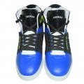 Supra High Top Shoes FS022 Blue With Black, With Shining Style It Have A Very Attractive Looking By Out-Side, Made In Vietnam, Exclusively on Bangladesh