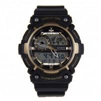 Casio Analog Digital World Time 100M Sport Watch AEQ 200W 9AV