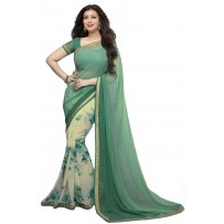 Vinay Exclusive Elegant Green Printed Chiffon Saree - SW30