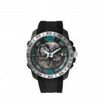 Q&Q DE11J311Y Analog Digital Black Dial Men's Watches