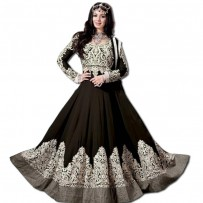 Exclusive Eid Special Ayesha Takia Abaya Style Black Anarkali Suits WF004