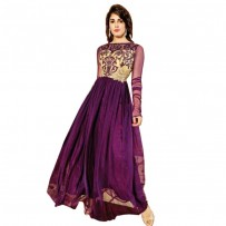 Exclusive Eid Special Purple Abaya Style Anarkali Suit WF012