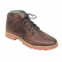 Chocolate Full Leather Casual Boot FFS403