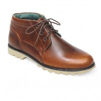 Chocolate Full Leather Casual Boot FFS404