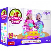 Funskool Giggles Kitchen Set Deluxe Multi Color
