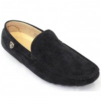 Men's Velvet Casual Loafer FFS234- Black