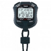 Q&Q HS45J001Y Black Digital Stop Watch