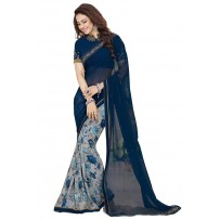 Vinay Star Walk Chiffon Georgette Saree With HTE Blouse  - SW49